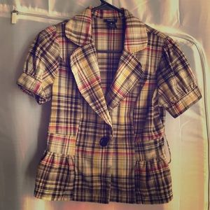 Rue 21 Plaid Jacket